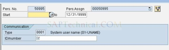 Linking SAP User-id to Personnel no